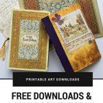 Free June Downloads And A Mini Book Tutorial   Mixed Media Handmade   Free Printable Miniature Book Covers