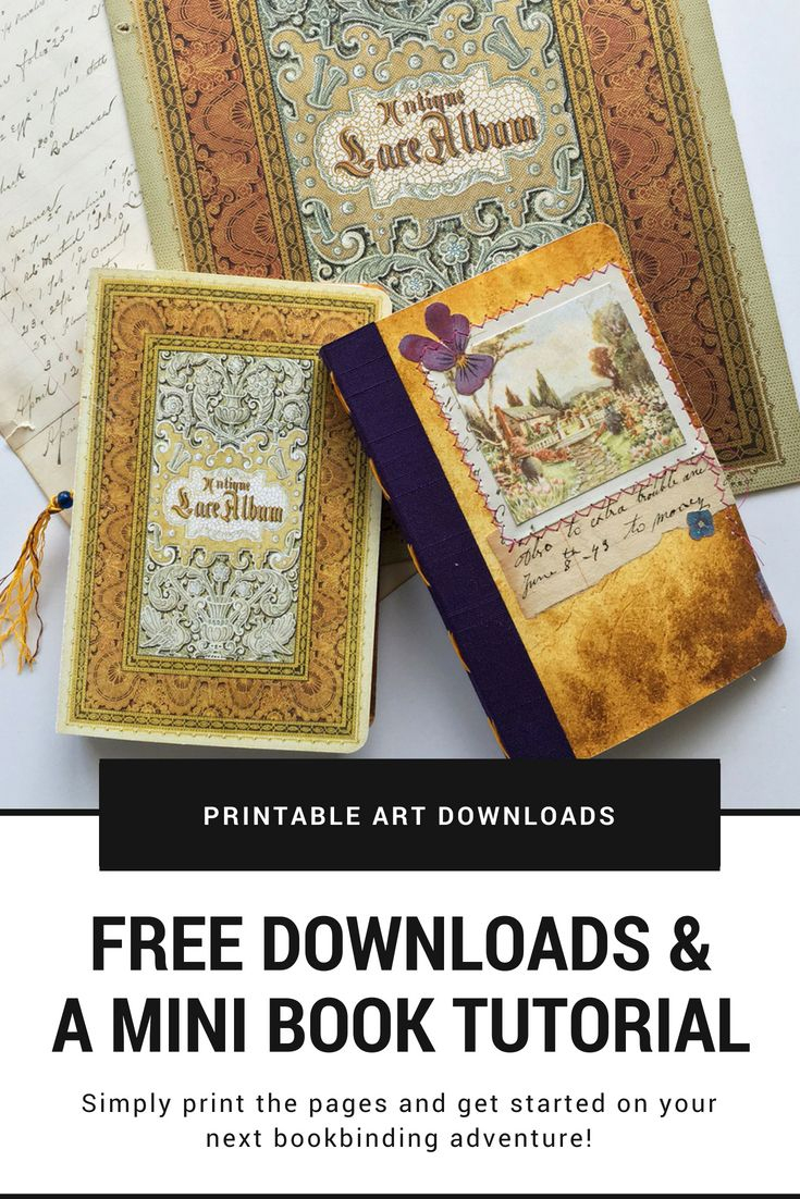 Free June Downloads And A Mini Book Tutorial | Mixed-Media Handmade - Free Printable Miniature Book Covers