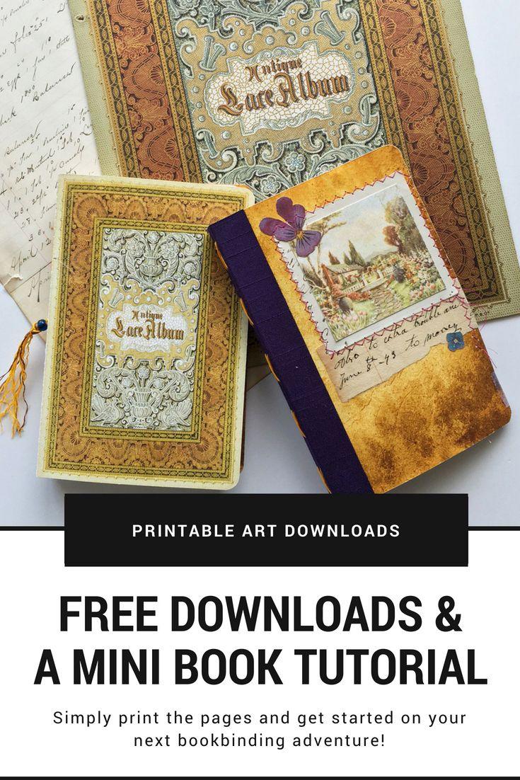 Free June Downloads And A Mini Book Tutorial   Mixed-Media Handmade - Free Printable Miniature Book Covers