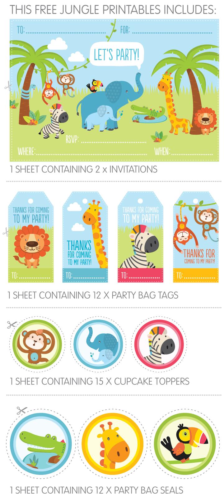 Free Jungle Party Invitation Printables | Safari | Pinterest - Jungle Theme Birthday Invitations Free Printable