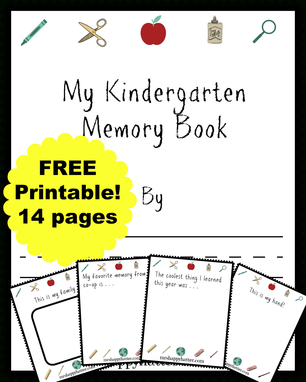 Free Kindergarten Memory Book (Homeschool Edition | Best Of Mrs - Free Printable Preschool Memory Book