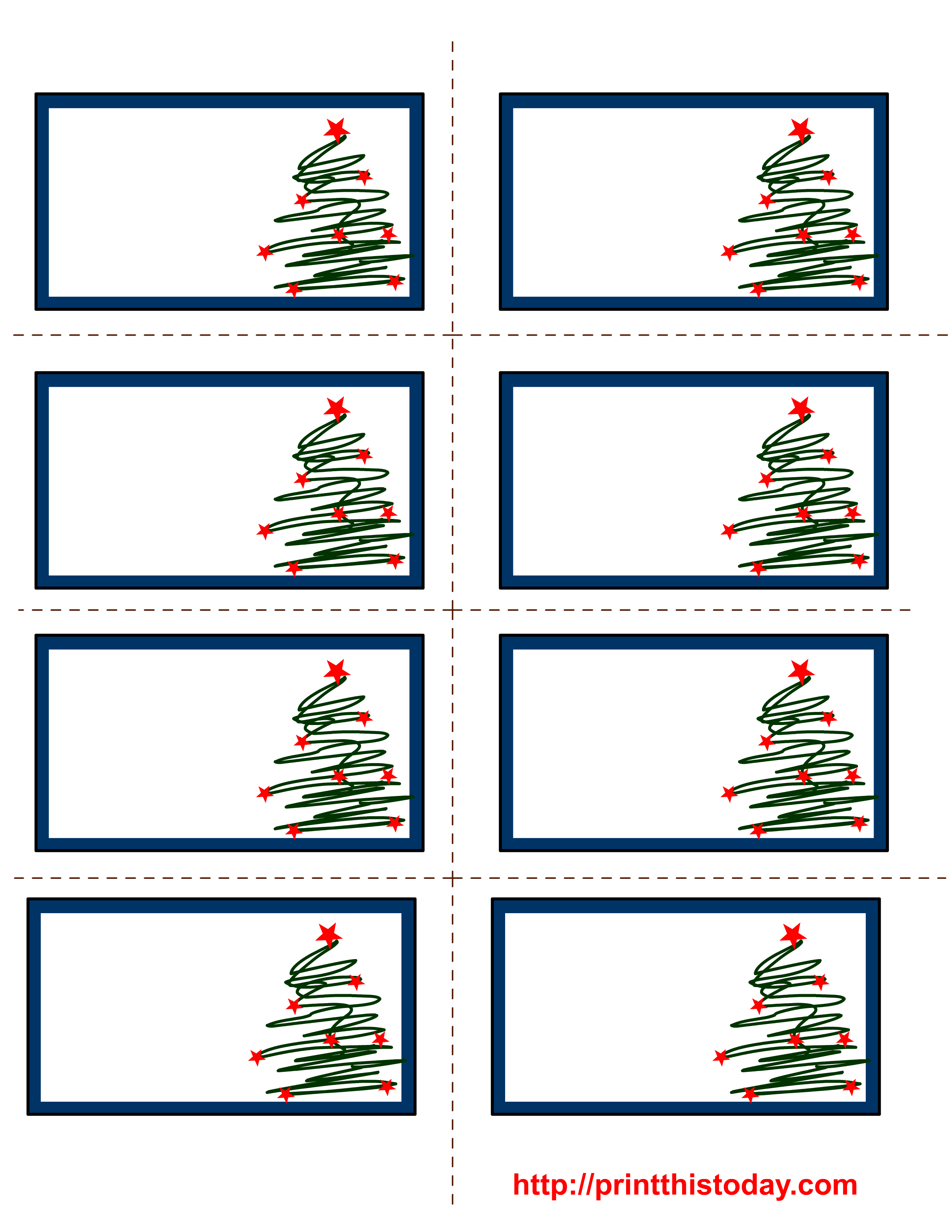 Free Labels Printable | Free Printable Christmas Labels With Trees - Christmas Labels Free Printable Templates