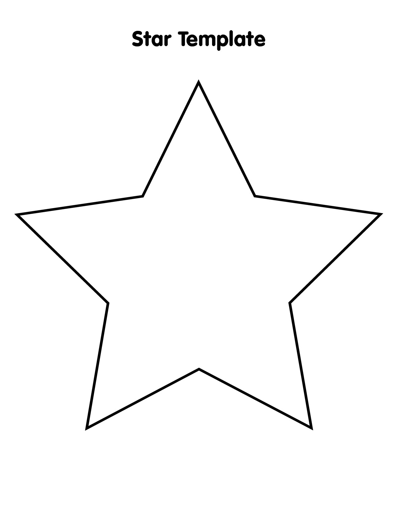 Free Large Star Template To Print, Download Free Clip Art, Free Clip - Star Of David Template Free Printable