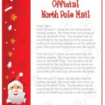 Free Letter Template From Santa North Pole Valid Epic Free Printable   Free Printable Letter From Santa Template