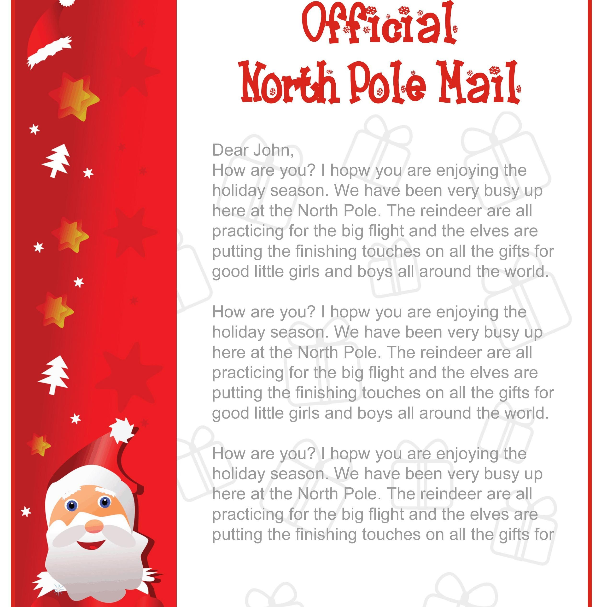 Free Letter Template From Santa North Pole Valid Epic Free Printable - Free Printable Letter From Santa Template