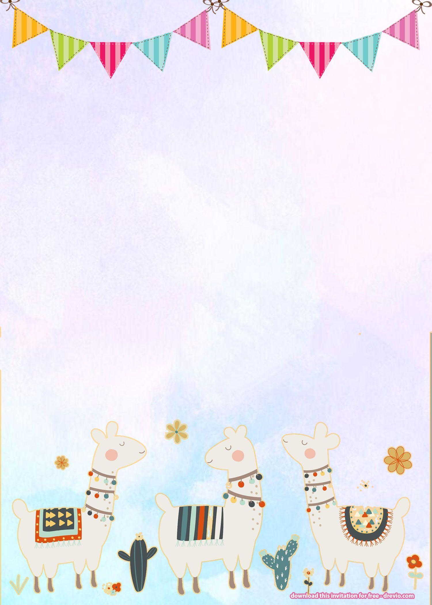 Free Llama Birthday Invitation | Free Printable Birthday - Free Printable Birthday Invitations Pinterest