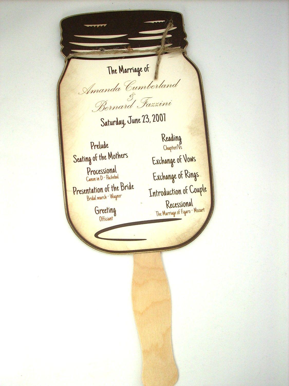 Free Mason Jar Wedding Invitations Templates | Rustic Wedding Ideas - Free Printable Wedding Fan Templates