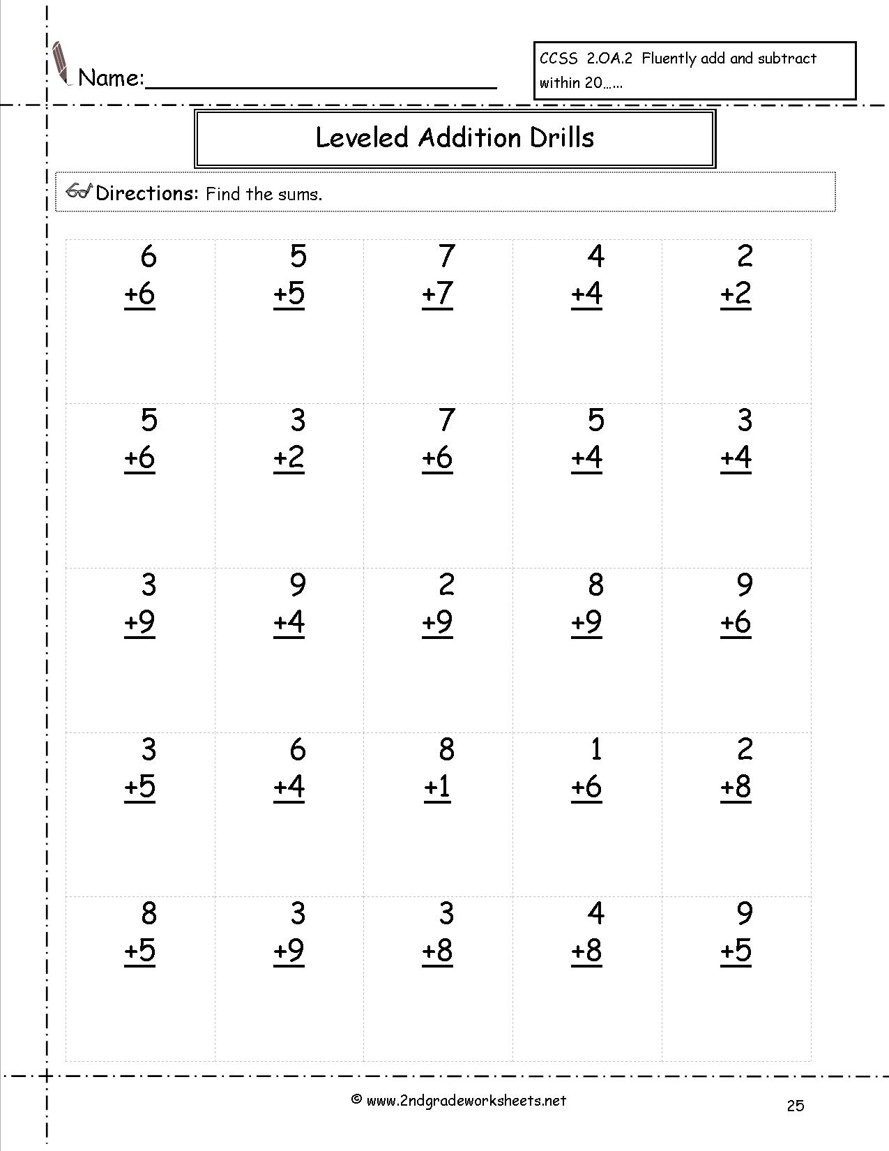 Free Math Worksheets And Printouts - Free Printable Second Grade Math Worksheets