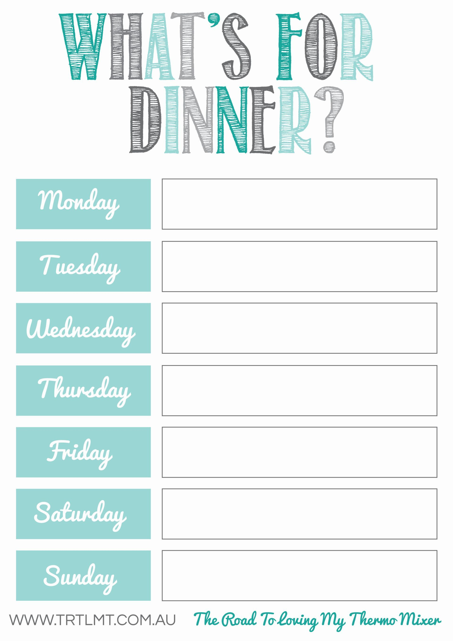 Free Meal Planning Printables | Food And Recipes | Pinterest - Free Printable Weekly Meal Planner