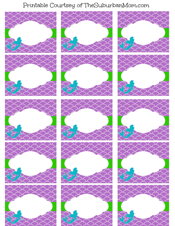 Free Mermaid Party Printables | Bella's | Mermaid Party Food - Free Printable Little Mermaid Birthday Banner