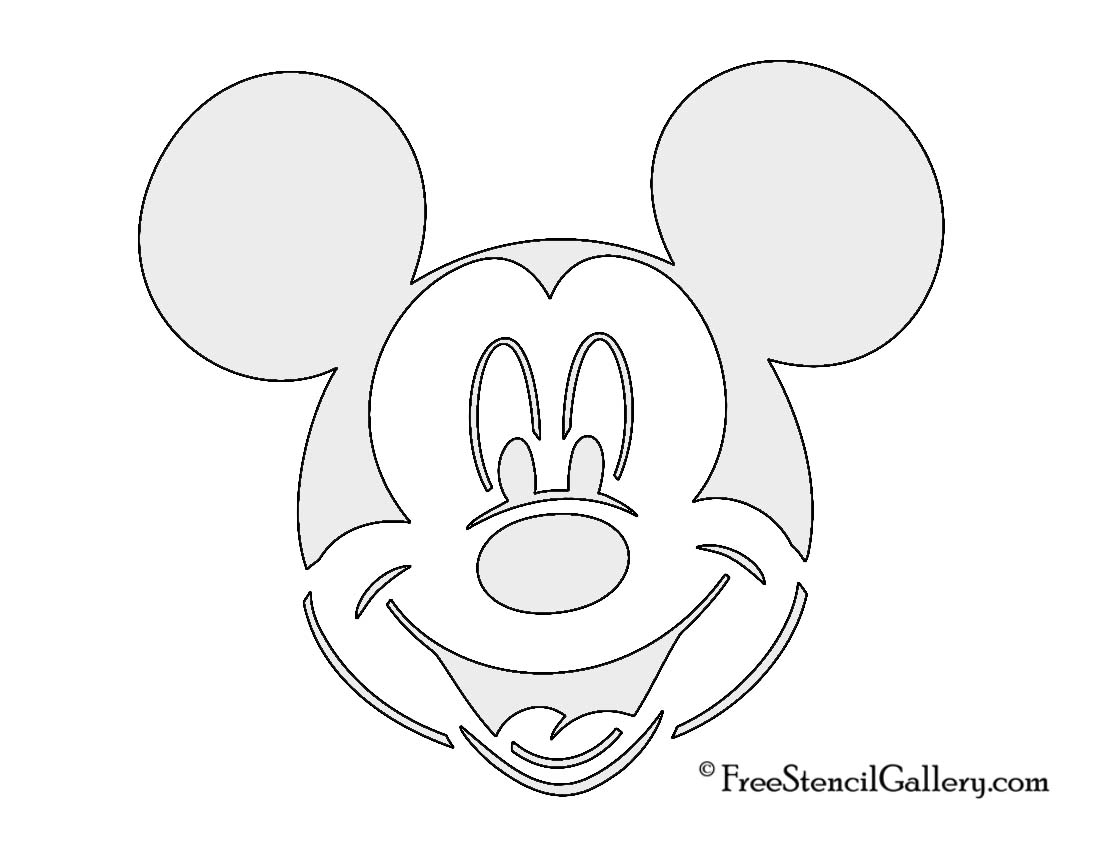 Free Mickey Mouse Stencil, Download Free Clip Art, Free Clip Art On - Free Printable Cookie Stencils