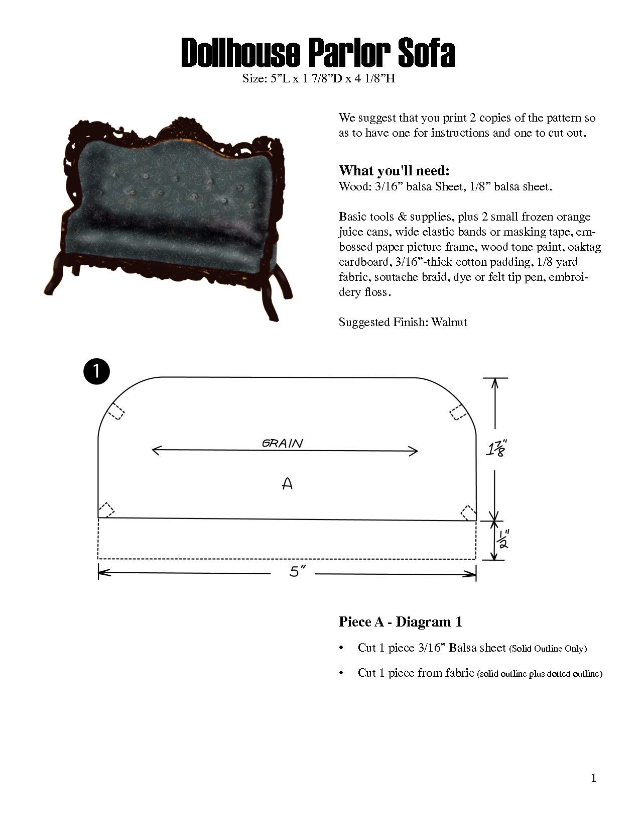 Free Miniature Furniture Patterns - Google Search   Miniatures - Free Printable Dollhouse Furniture Patterns