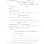 Free Minor (Child) Power Of Attorney Forms   Pdf | Word | Eforms   Free Printable Child Custody Papers