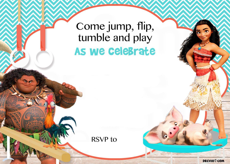 Free Moana Birthday Invitation Template | Birthday Invitation For - Free Printable Moana Birthday Invitations