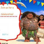 Free Moana Birthday Invitation | Zoey 4Th Birthday | Pinterest   Free Moana Printable Invitations