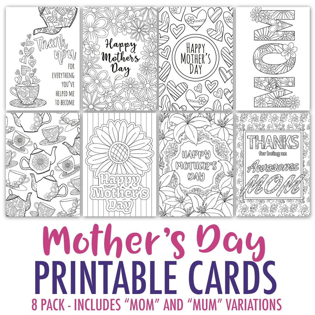 Free Mother's Day Card | Printable Template - Sarah Renae Clark - Free Printable Cards To Color