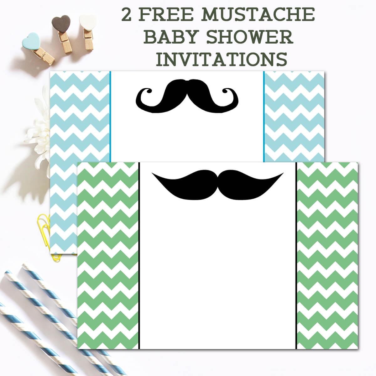 Free Mustache Baby Shower Invitations - Ilona's Passion - Free Printable Mustache Invitations