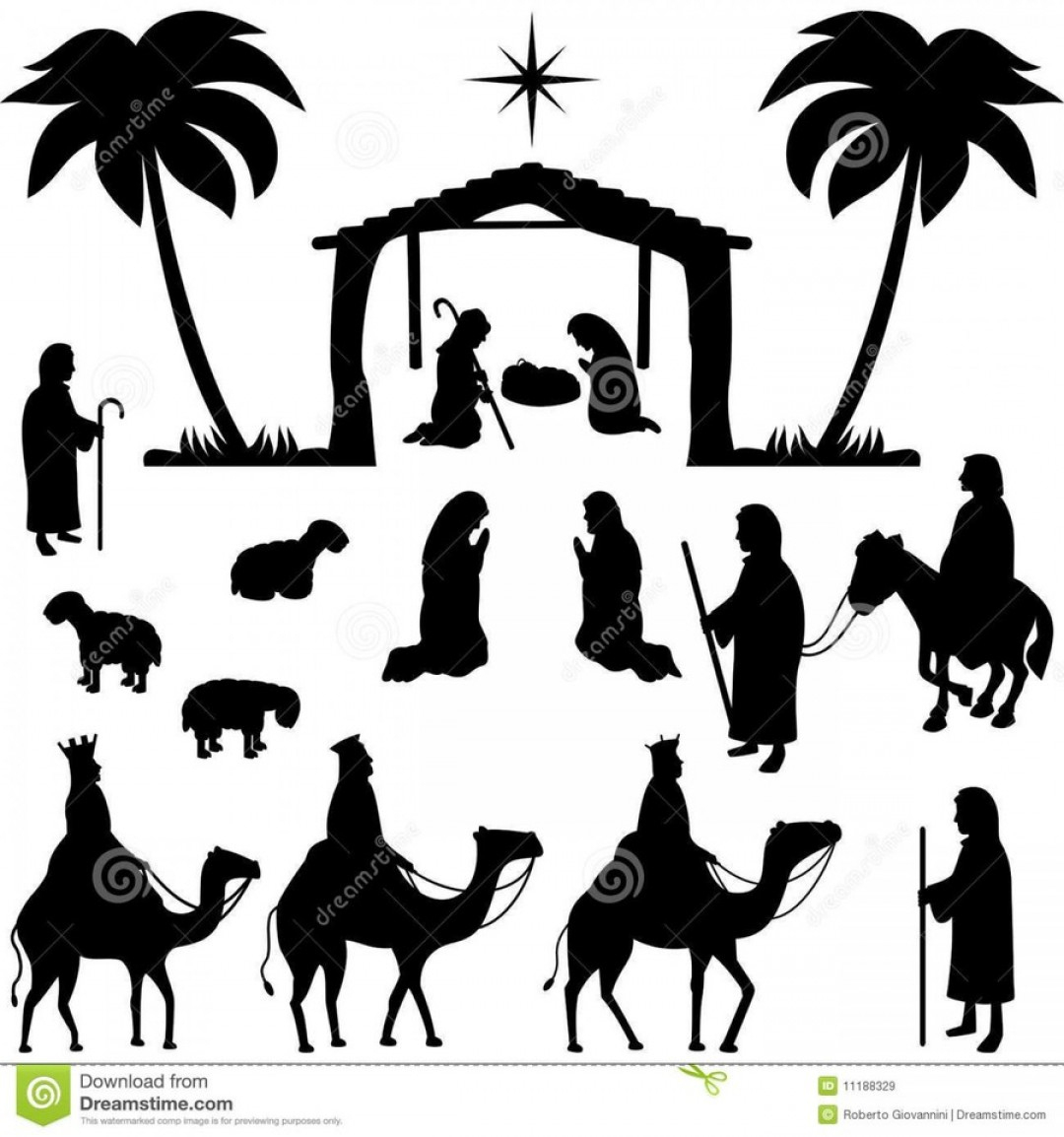 Free Nativity Scene Images Clip Art | Soidergi - Free Printable Nativity Silhouette