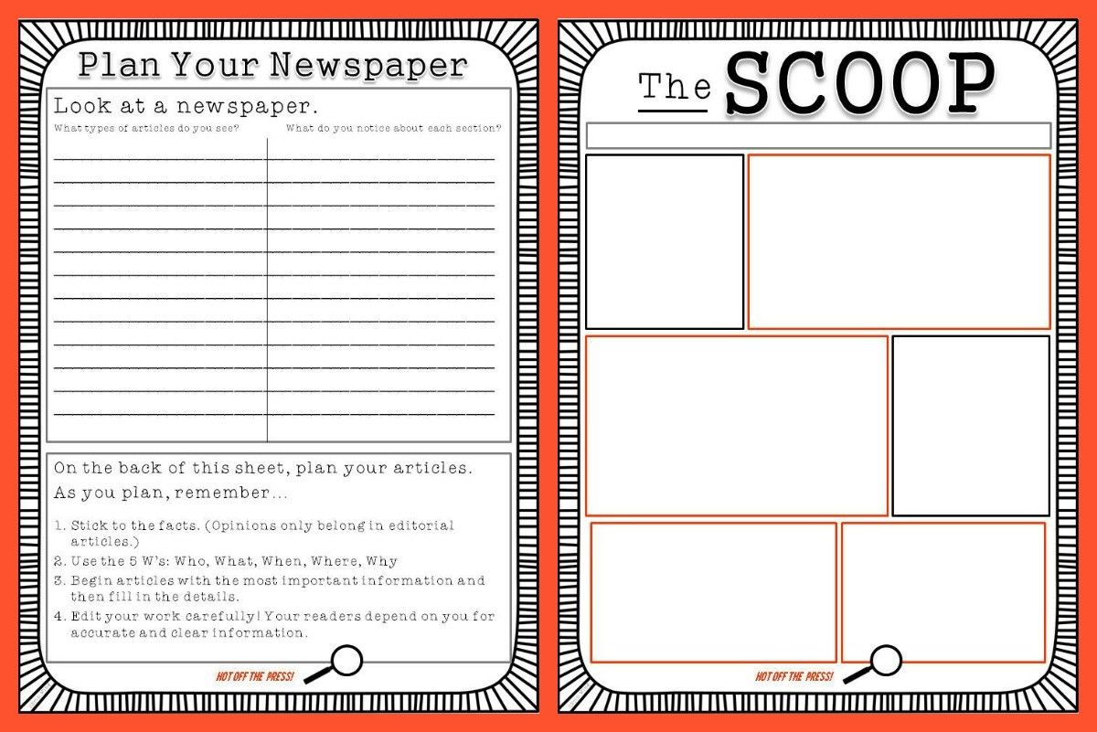 Free Newspaper Template For Kids Printable | School Ideas | Kids - Free Printable Newspaper Templates For Students