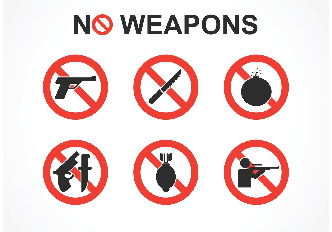 Free No Weapons Vector Signs - Download Free Vector Art, Stock - Free Printable No Guns Allowed Sign