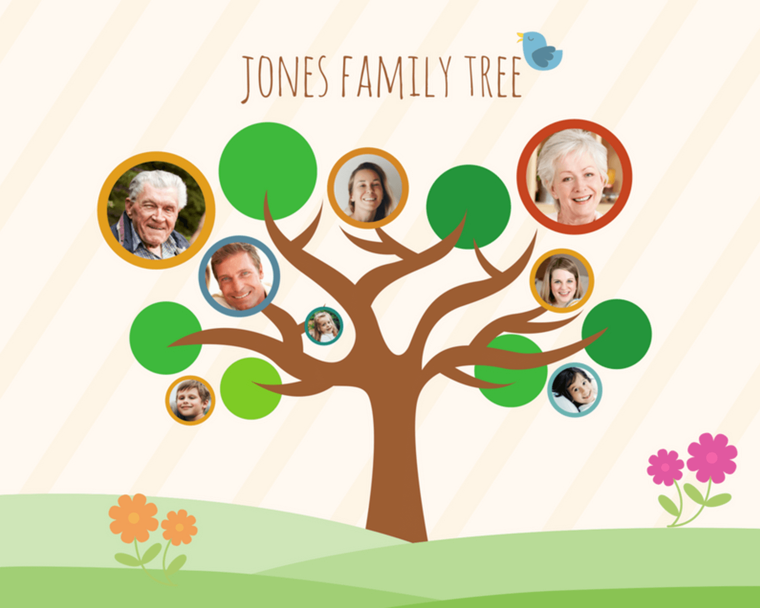 Free Online Family Tree Maker: Design A Custom Family Tree - Canva - Family Tree Maker Online Free Printable