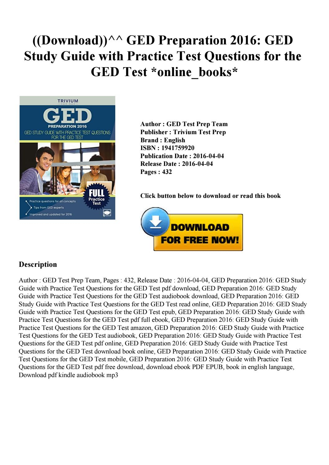 Free Online Ged Practice Test User Manuals | 2019 Ebook Library - Free Printable Ged Flashcards