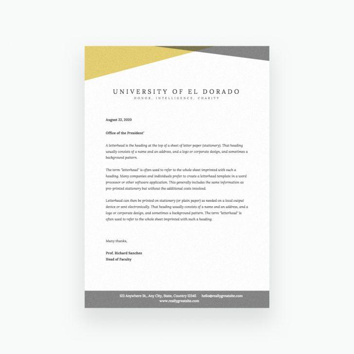 Free Printable Letterhead Templates