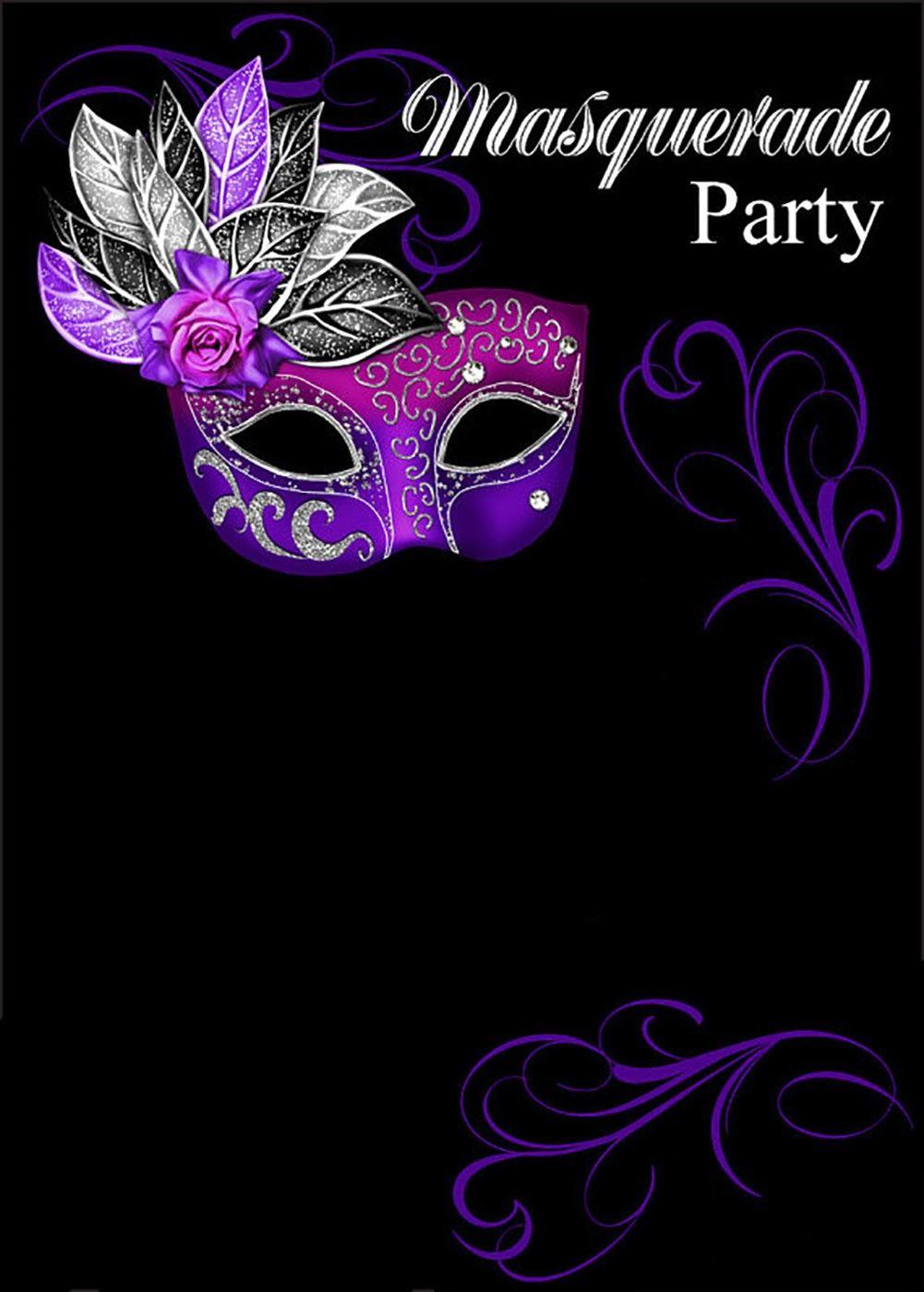 Free Online Masquerade Invitation | Invitations Online - Free Printable Masquerade Masks