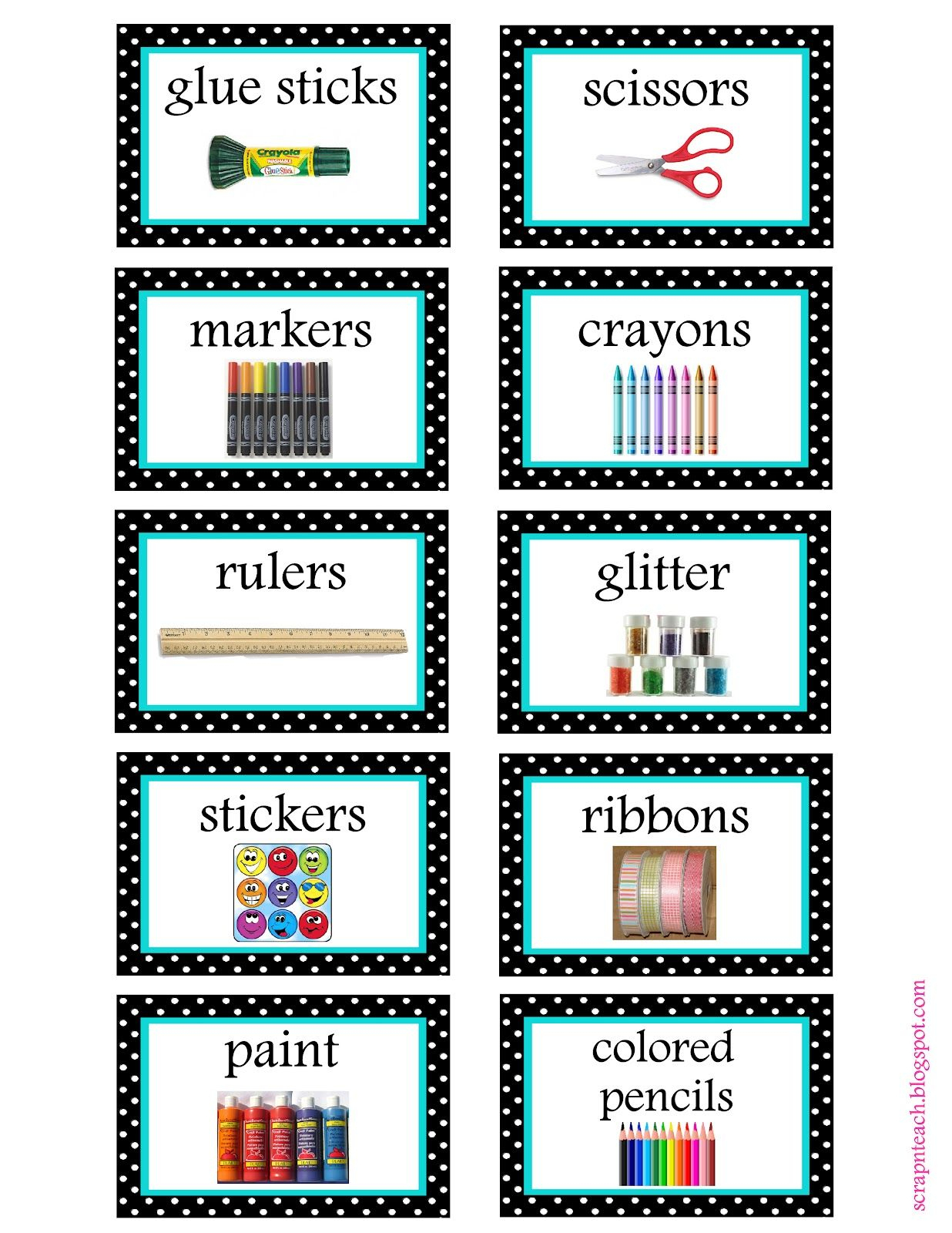 Free Organization Label Printables | Classroom Organization - Free Printable Classroom Labels With Pictures
