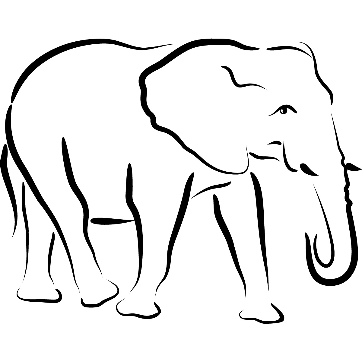 Free Outline Pictures Of Animals, Download Free Clip Art, Free Clip - Free Printable Arty Animal Outlines