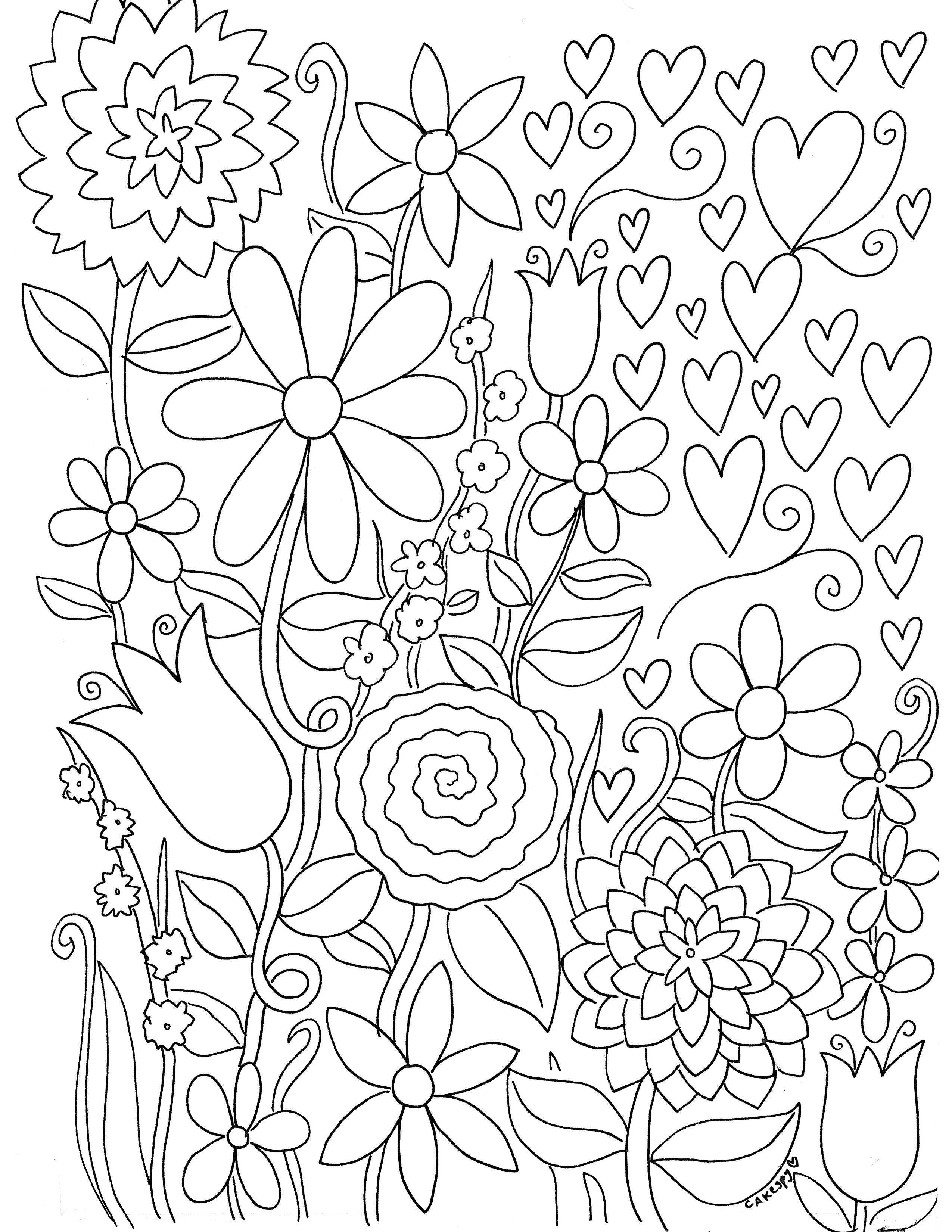 Free Paintnumbers For Adults Downloadable | *printable Art - Free Printable Flower Coloring Pages For Adults