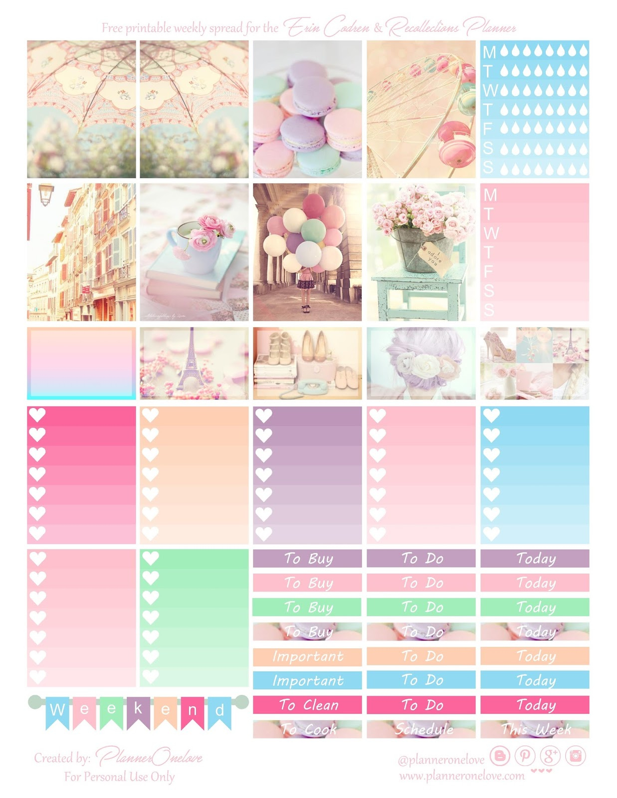 Free Paris Inspired Printable Sticker Spread For Erin Condren - Printable Erin Condren Stickers Free