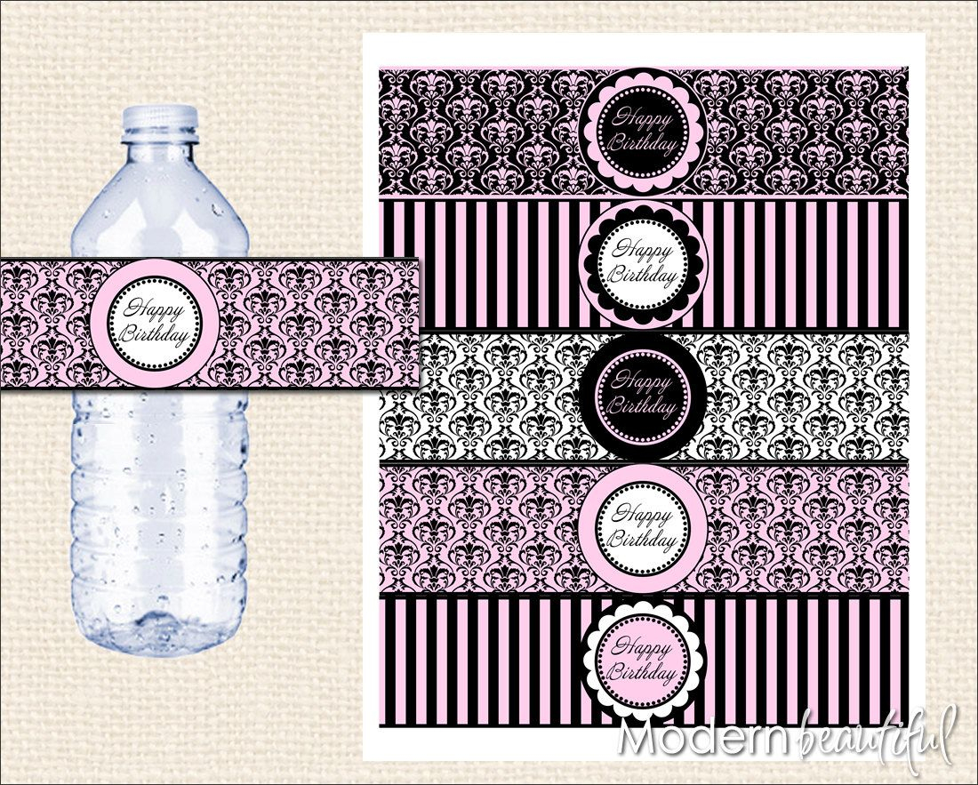 Free Paris Printables | Can't You Just Hear The Accordion Music And - Free Printable Paris Water Bottle Labels