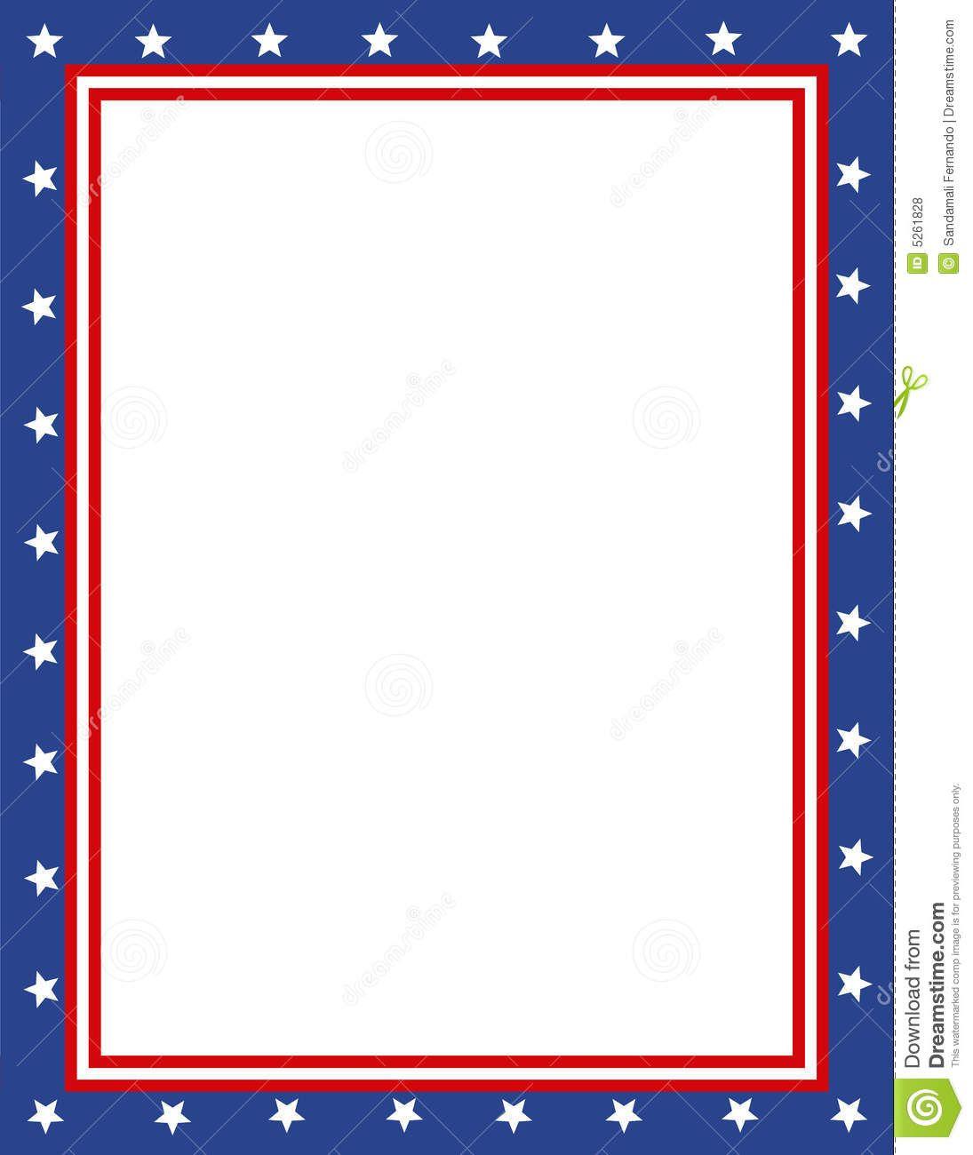 Free Patriotic Page Borders   Patriotic Border   Sponsored Child - Free Printable Patriotic Writing Paper