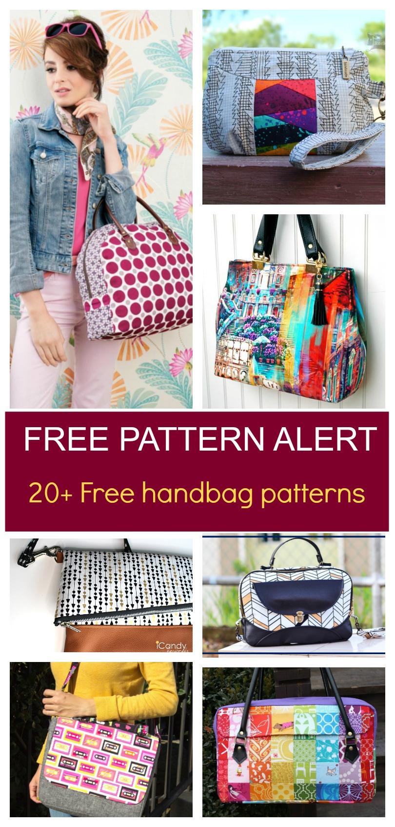 Free Pattern Alert: 20+ Handbag Sewing Patterns   On The Cutting - Handbag Patterns Free Printable