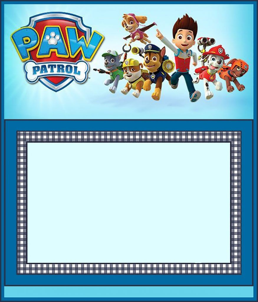 Free Paw Patrol Invitation Template | Coolest Invitation Templates - Free Printable Paw Patrol Invitations