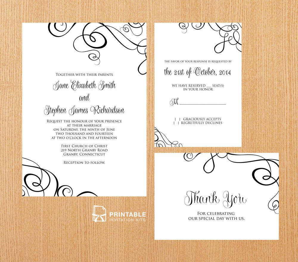 Free Pdf Templates. Easy To Edit And Print At Home. Elegant Ribbon - Free Printable Enclosure Cards