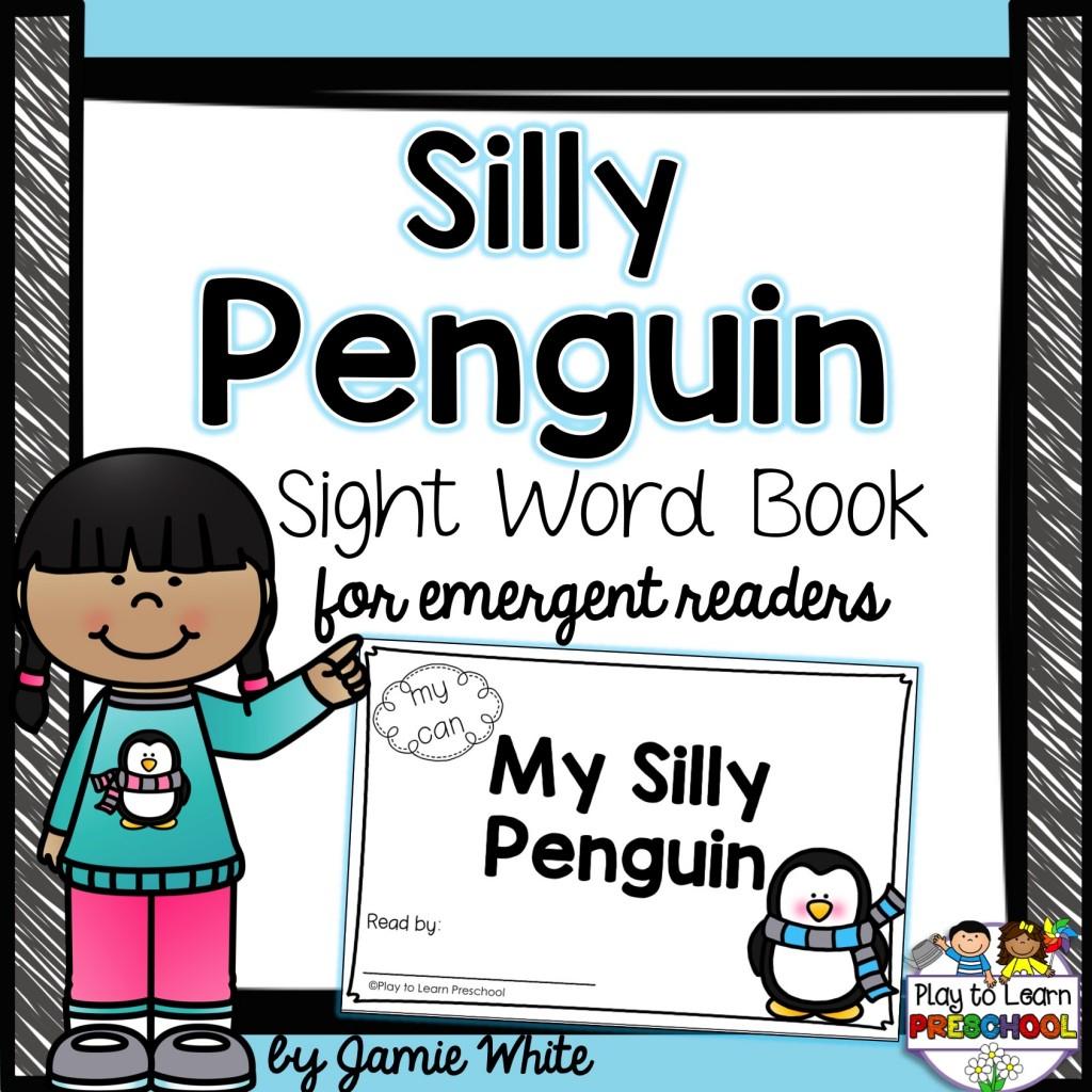 Free Penguin Emergent Reader Book - Free Printable Reading Books For Preschool