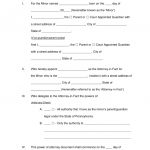 Free Pennsylvania Guardian Of Minor Power Of Attorney Form   Word   Free Printable Child Custody Papers