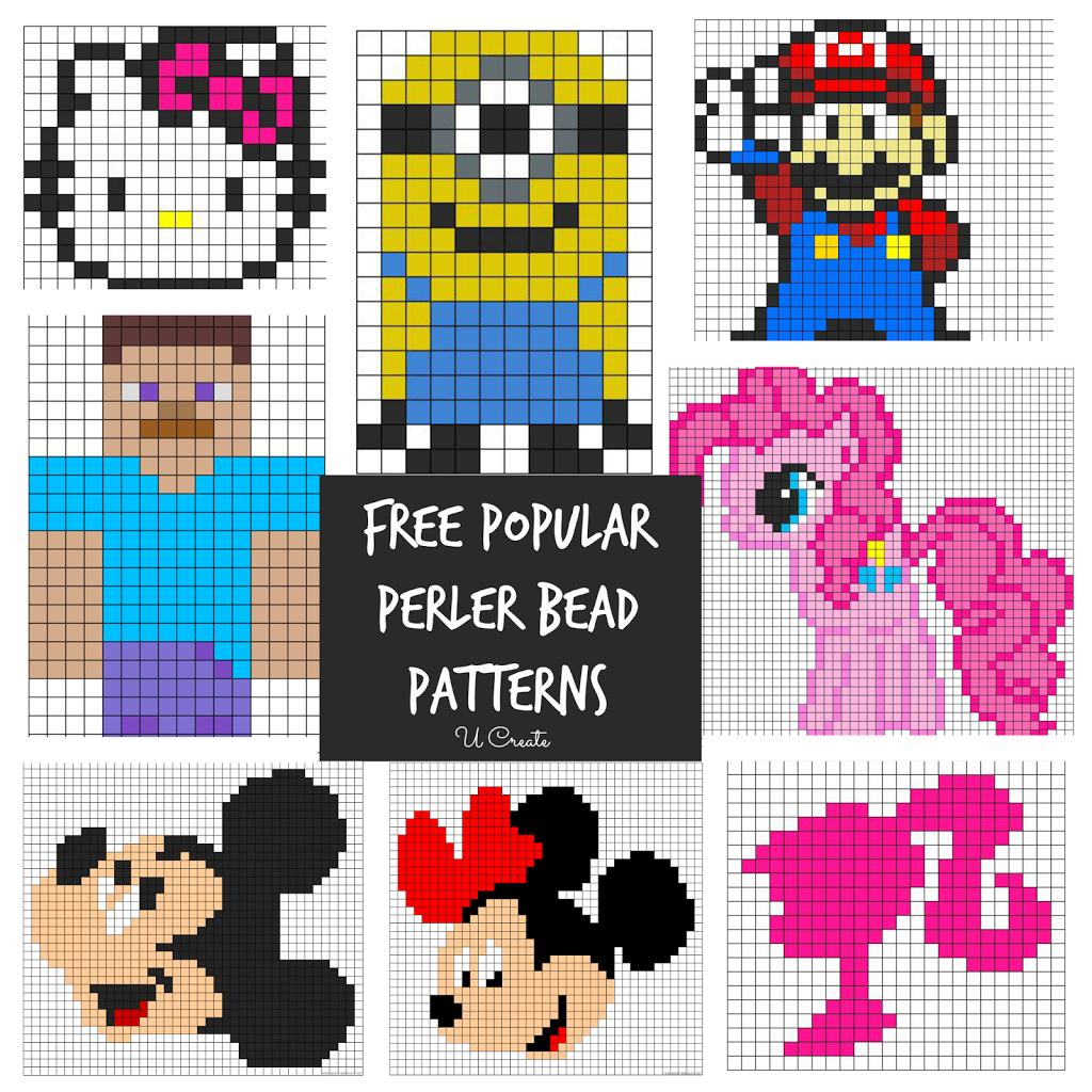 Free Perler Bead Patterns For Kids! - U Create - Free Printable Beading Patterns
