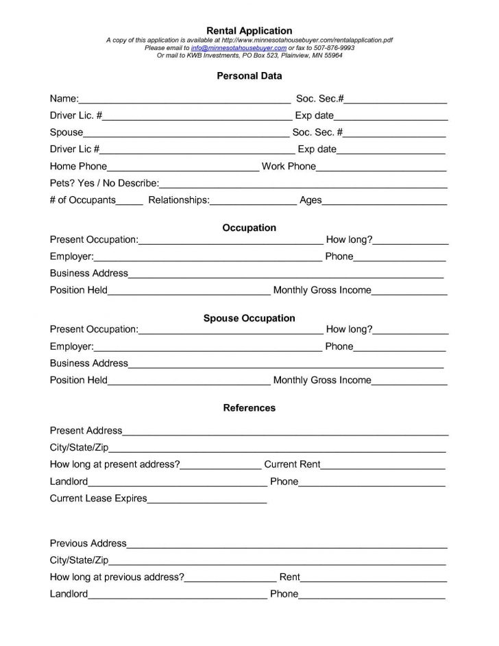 Free Printable Business Credit Application Form