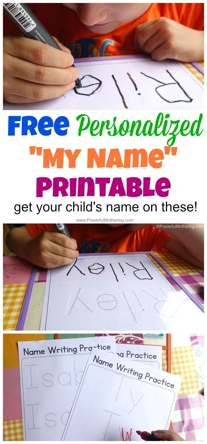 Free Personalized Printable With Your Childs Name On It To Practice - Free Printable Name Tracing