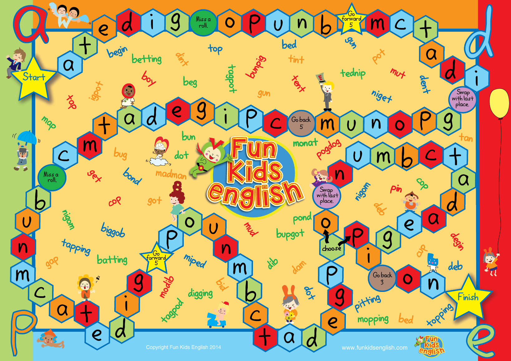 Free Phonics Board Games: Children's Songs, Children's Phonics - Free Phonics Readers Printable