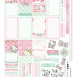 Free Planner Printable: Mint Green & Pink Hello Kitty | Planners   Hello Kitty Labels Printable Free