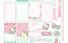 Free Planner Printable: Mint Green & Pink Hello Kitty | Planners – Hello Kitty Labels Printable Free