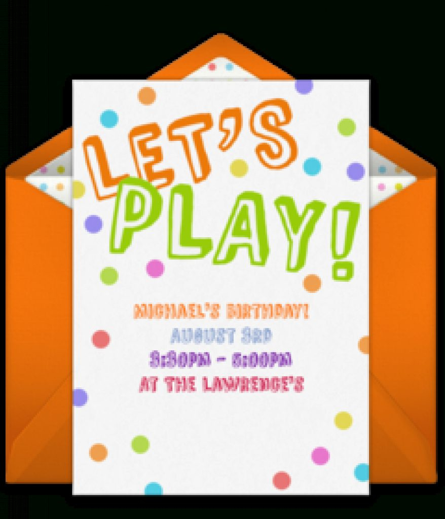 Free Playdate Online Invitations | Punchbowl Intended For Free - Free Printable Play Date Cards
