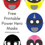 Free Power Hero Printable Masks   Free Printable Masks