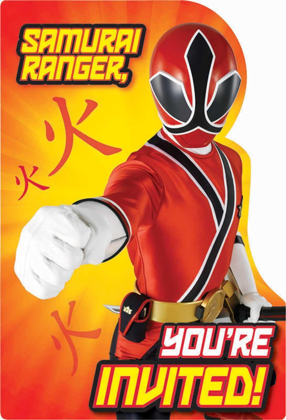 Free Power Ranger Birthday Invitations | Bagvania Invitation - Free Printable Power Ranger Birthday Invitations