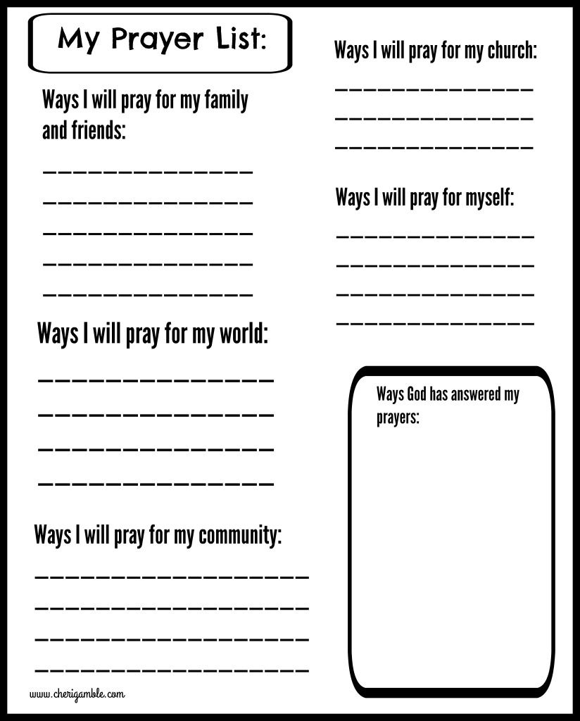 Free Prayer Journal Pages Designed For Children And Teens! | Church - Free Printable Sunday School Lessons For Teens
