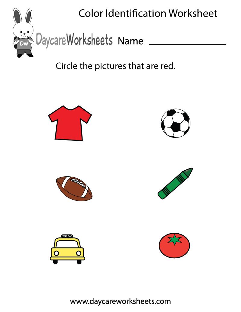 Free Preschool Color Identification Worksheet - Color Recognition Worksheets Free Printable